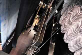fabricando e instalando telones para teatros